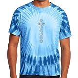 Yoga Clothing For You Mens 7 Chakras Tie Dye Tee Shirt
