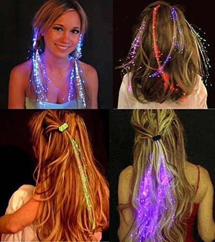LED Light Up Hair Extensions Fibre Optic Hair Clip