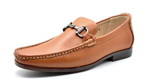 BRUNO MARC MODA ITALY PORTER-02 Men's Dress Classic Leather Lining Slip On Casual Loafers shoes Tan SIZE 12