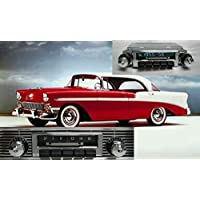 Bluetooth Enabled 1955-1956 Bel Air, Nomad, One-Fifty, Two-Ten 300w Slidebar AM FM Car Stereo/Radio