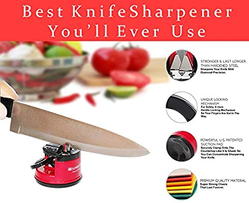 Sunrisepro Supreme Knife Sharpener For All Blade Types Razor Sharp Precision Perfect Calibration Easy Safe To Use Ideal For Kitchen Workshop Craft Rooms Camping Hiking Amazon Sg Home