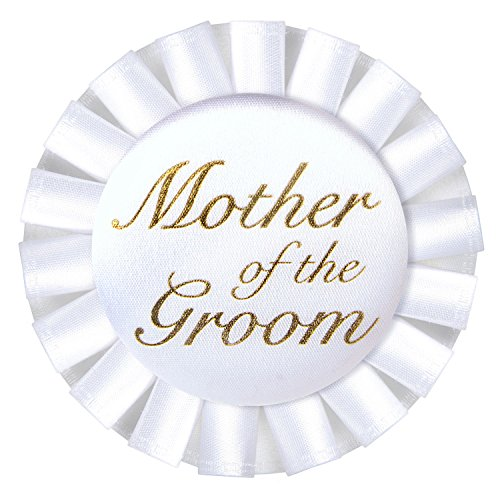 Beistle 60482 Mother of The Groom Satin Button, 3-1/2-Inch]()