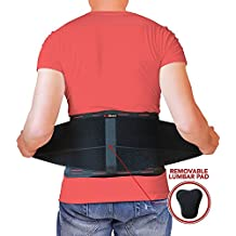 AidBrace Back Brace Support Belt - Helps Relieve Lower Back Pain with Sciatica, Scoliosis, Herniated and Slipped Discs or Degenerative Disc Disease for Men & Women