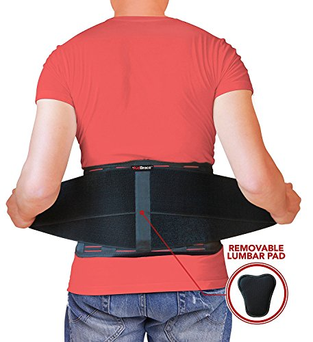 AidBrace Back Brace Support Belt - Helps Relieve Lower Back Pain with Sciatica, Scoliosis, Herniated and Slipped Discs or Degenerative Disc Disease for Men & Women (L/XL) by AidBrace