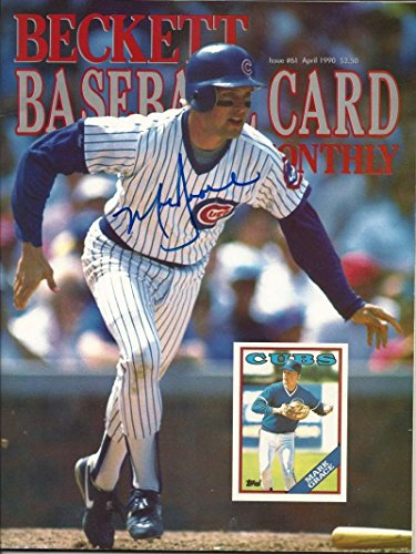 (Mark Grace Autographed Beckett Baseball Card Monthly Magazine)