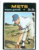 Autograph Warehouse 27144 Wayne Garrett Autographed Baseball Card New York Mets 1971 Topps Baseball Card No. 228
