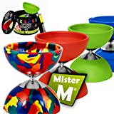 """Mister M ✓ Diabolo ✓ Aluminum Sticks ✓ Gift Box ✓ extra String plus an online Instructional Video - """"The Ultimate Diabolo Set"""" by (Camouflage)"""