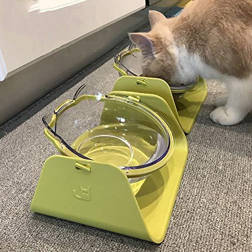 Cecrt 1pcs 15 Degree Adjustable Pet Feeder Bowl Dog Cat Adjustable Feed Bowl Waterer Feeding Food Pet Dog Dish Feeders Tableware ()