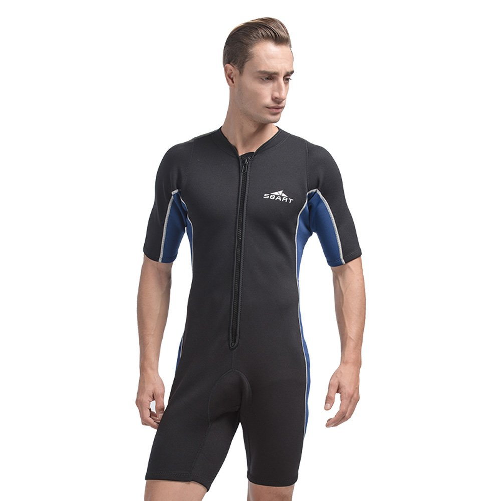 05d42c66e0 Amazon.com  Unisex Short Sleeve Neoprene Wetsuit For Swimming Spearfishing Wetsuits  One piece Triathlon Scuba Diving Surfing Wetsuits  Sports   Outdoors