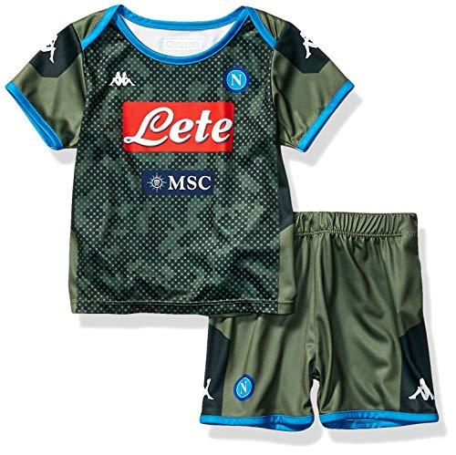 Napoli Away Shirt - Ssc Napoli Italian Serie A Baby Away Match Kit, Green, 24 Months