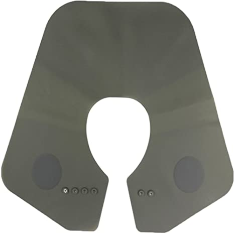 Da Jia Inc Silicone Cutting Collar Neck Shield Magnetic Waterproof Coloring  Cape Professional Barber Hair Shawl , Grey