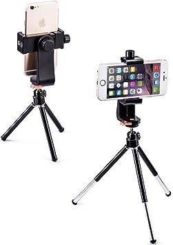 Zeadio Smartphone Soporte con trípode, Soporte rotativo 360 Degree ...