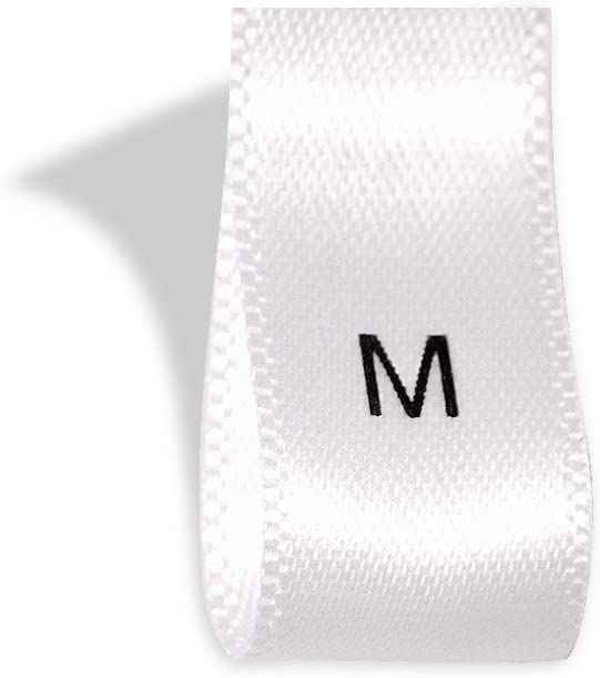 SIZE TAGS 100 PCS WHITE WOVEN CLOTHING SEW LABELS L LARGE