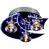 Lightinthebox reg; Blue LED Modern Crystal Living 3 Lights Chandelier Flush Mount Ceiling Light Fixt