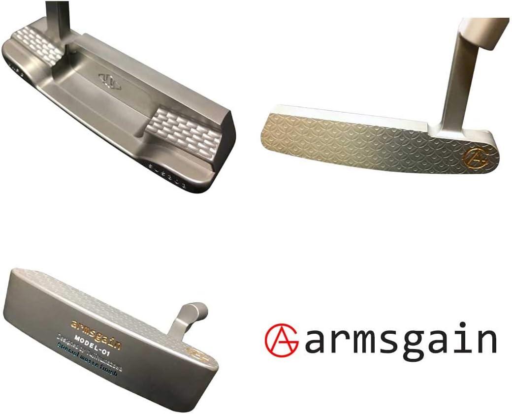 アームスゲイン(armsgain) パター Model-01【クランクネックタイプ】 ハイグレードソフトステンレスSUS303 スペシャルマットフィニッシュ コーティング仕様 34インチ パター