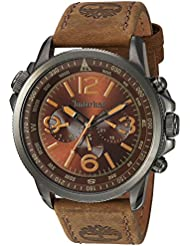Timberland Mens TBL13910JSU12 CAMPTON Analog Display Analog Quartz Brown Watch