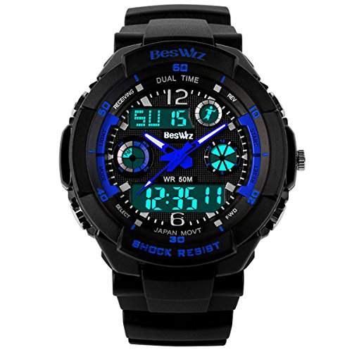 green digital watch with timer - 6