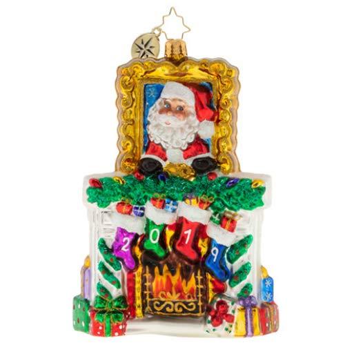 Christopher Radko Hand-Crafted European Glass Christmas Decorative Figural Ornament, 2019 Fireside Christmas from Christopher Radko