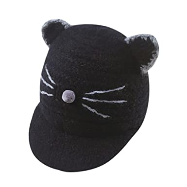 cf5eb1a08d1 Xshuai Baby Hat for 1-3 Years Old Kids Fashion Newborn Infant Toddler Cute  Winter Warmer Cap Baby Girl Boy Cartoon Cat Big Ears Cotton Hat (Black)  ...