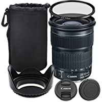 Canon EF 24-105mm f/3.5-5.6 IS STM Lens with Accessory Bundle for Canon EOS 70D, 80D, 77D, 7D Mark II, 5DS, 5DS R, 6D, 5D Mark III, 5D Mark IV, EOS Rebel T6i, T6s, T7i - International Version