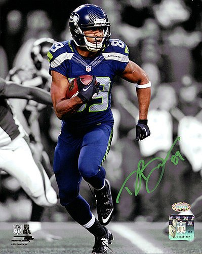 Doug Baldwin Signed 8x10 Photo Seattle Seahawks In Green - Autographed NFL Football Photos