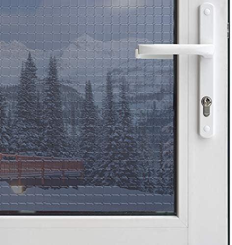 One Way Window Film Daytime Privacy Static Cling Self Adhesive House Film Glass Window Tint Heat Control Mirror Film Black Silver 6 Mil 35.4 Inch x 32.8 Feet