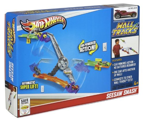 Hot wheels wall tracks seesaw smash track set new ebay for Hot wheels wall tracks template
