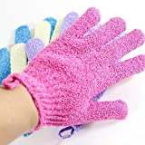 Moonmini 4 Pair Set Scrubbing Exfoliating Gloves  Double...