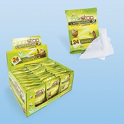 72 unidades Toallitas Húmedas citronela refrescantes antimosquitos anti mosquitos