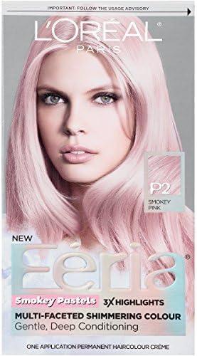 LOreal Paris Hair Color Feria Pastels, P2 Rosy Blush (Smokey Pink) by LOreal Paris