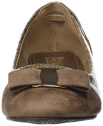XTI Zapato Sra. C. Combinado Taupe, Bailarinas para Mujer Beige (TAUPE)