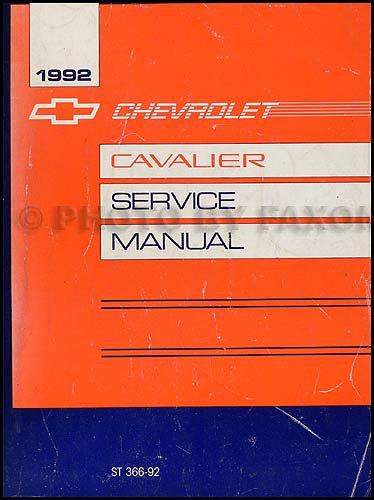 1992 Chevy Cavalier Repair Shop Manual Original