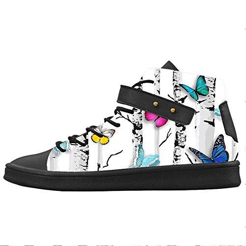 Custom Colore Flying Butterfly Womens Canvas shoes Le scarpe le scarpe le scarpe.