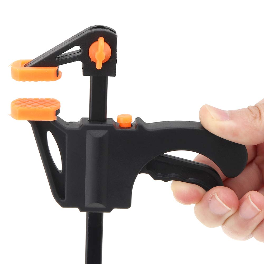【The Best Deal】OriGlam F-Clamp Heavy Duty Clamp Set 4 inch Quick Grip Woodworking Bar Clamp Clip Wood Carpenter Tool