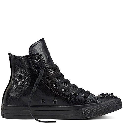 Converse Ct Hi Stud Womens Shoes Size 8 (Converse Black With Studs)