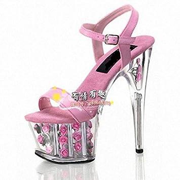 rosa - rose - hochzeit schuhe 15 cm high heels pink GaoXiao