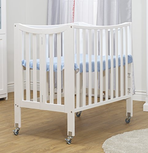 Orbelle Trading The Tian 3 in 1 Portable Crib with Two Levels, White