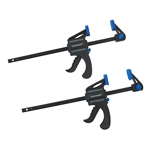 Silverline 250115 Mini Clamps 150 mm - Pack of 2