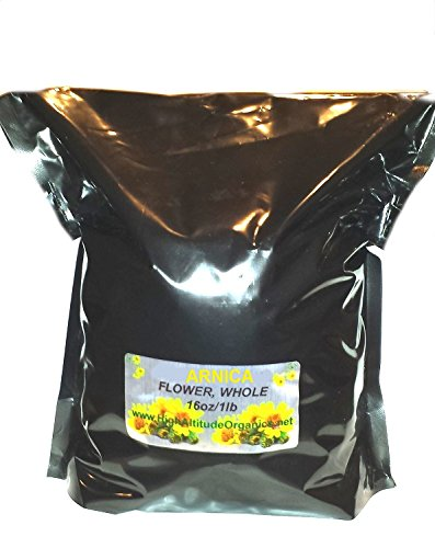 Arnica Flowers Whole Dried Herb - 1 lb - Make Your own Muscle Salve!
