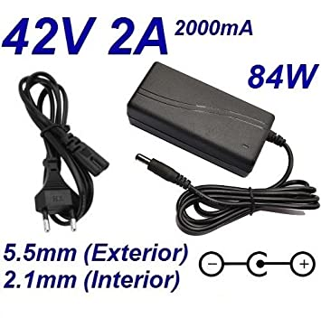 Cargador Corriente 42V 2A 2000mA 5.5mm 2.1mm 84W: Amazon.es ...