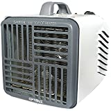 Optimus H-3001 Mini Compact Utility Heater with Thermostat Compact Garage, Shop And Utility Heaters Heater Mini Optimus Optimus Enterprise Inc Thermostat Utility with