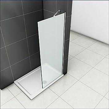 Comida en 8 mm mampara de ducha satinado de cristal 80 x 190 cm WHN80-S: Amazon.es: Bricolaje y herramientas