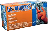 AMMEX - GWON48100 - Nitrile Gloves - Gloveworks - Disposable, Powder Free, 8 mil, XLarge, Orange (Case of 1000)