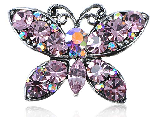 Silver Rhinestone Crystal Enamel Wedding Bridal Flower Butterfly Brooch Pin Gift (Parttern - ()