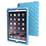 Apple iPad Air 2 Drop Tech Light Blue Gumdrop Cases Silicone Rugged Shock Absorbing Protective Dual Layer Cover Case