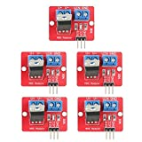 5pcs IRF520 Drivers,3.3V/5V IRF520 MOSFET Driver Modules,PWM Output Driving Boards Output 0-24V for Arduino