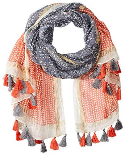 (Tickled Pink Women's Trendy, Fun, Lightweight Fashion Scarf with Tassles, Badra, One Size Fits)