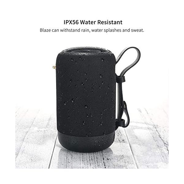 Enceinte Bluetooth Portable, 20W Enceinte Bluetooth Waterproof Haut-Parleur sans Fil, Pilote Double, Son 360° Basses Puissantes, Carte TF Support, Autonomie de 12 Heures pour Camping l'extérieur 7
