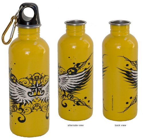 - EcoUsable 16 oz Stainless Steel Bottle - Wicked Wings