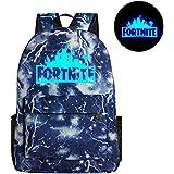 KOBWA Luminous Fortnite Backpack, Fortnite Galaxy School Backpack Rucksack Laptop Book Satchel Hiking Bag for Teen Boys and Girls